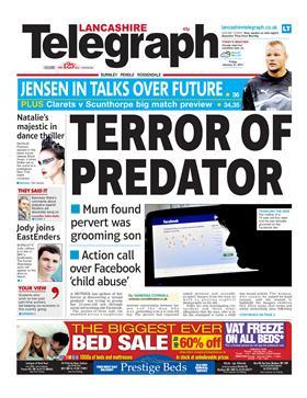 Lancashire Telegraph front page