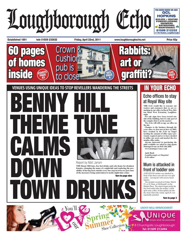 Loughborough Echo Front Page