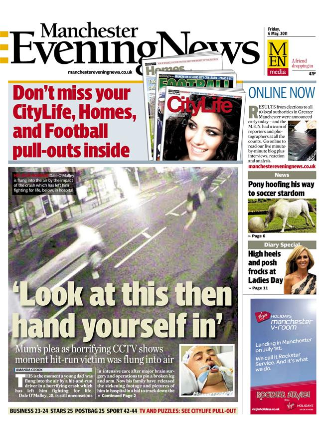 Manchester Evening News front page