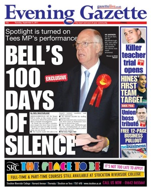 Sir Stuart Bell front page
