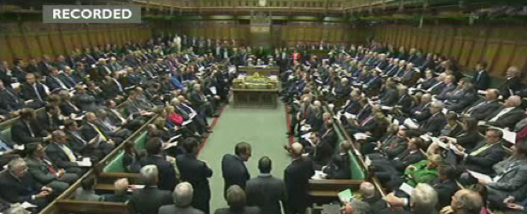 The House of Commons for PMQs - Wednesday, noon