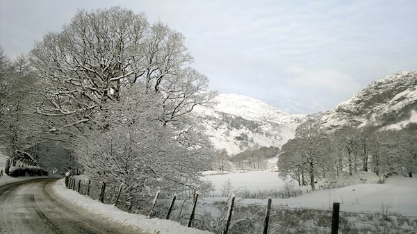 Coniston in the snow