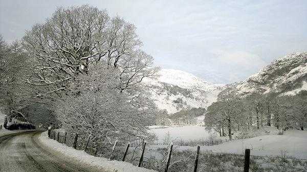 Coniston in the snow