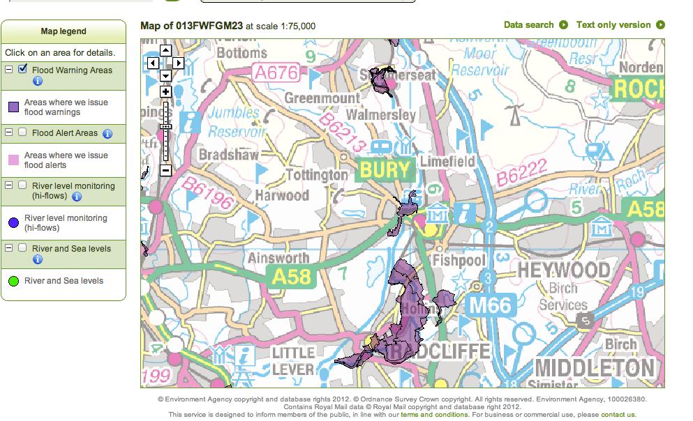 Environment Agency Floodmap