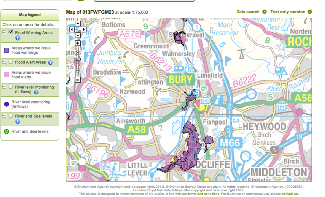 Environment Agency Floodmap