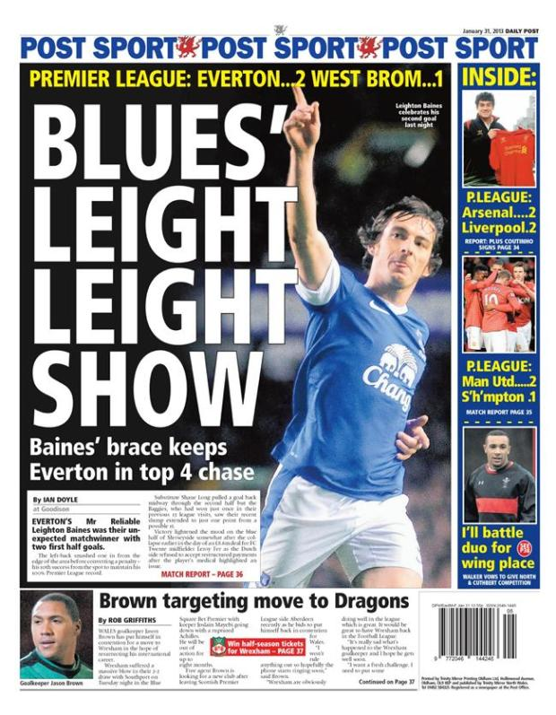 Leighton Baines backpage
