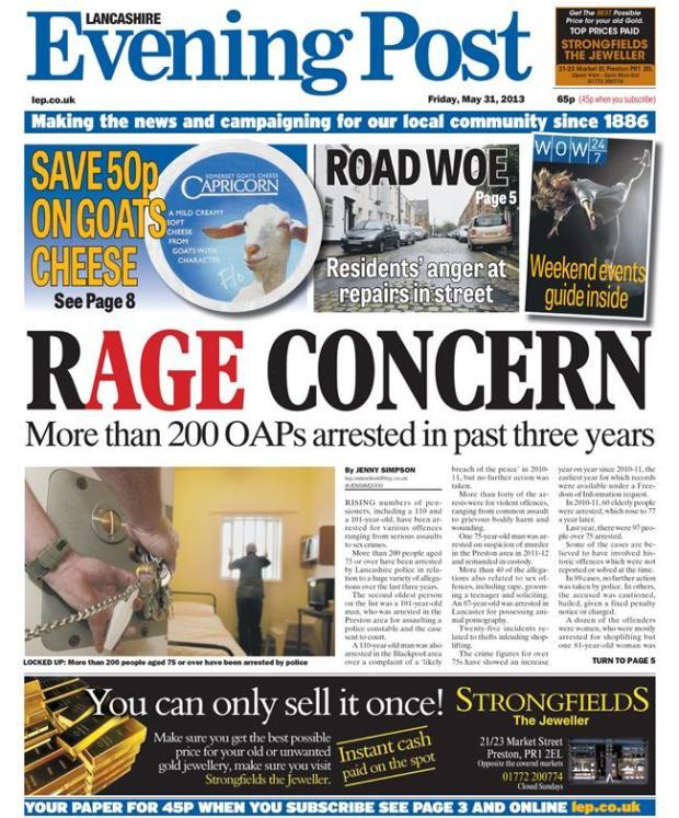 Lancashire Evening Post OAP crime