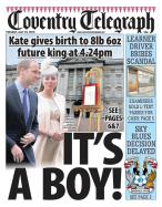 The Coventry Telegraph brings out the bunting