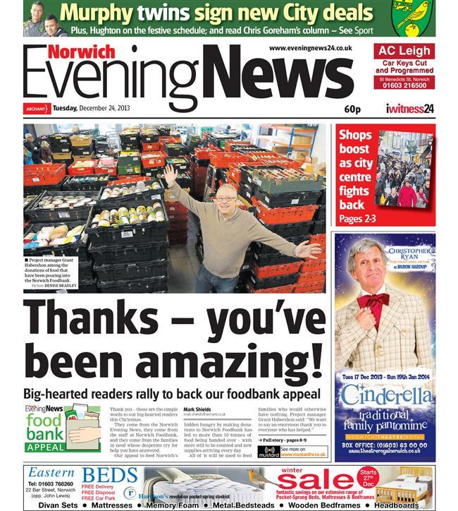 Norwich Evening News foodbank