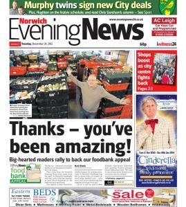 Norwich Evening News foodbank