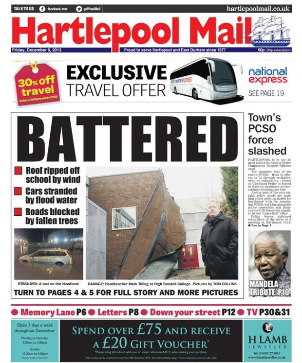 hartlepool mail storms