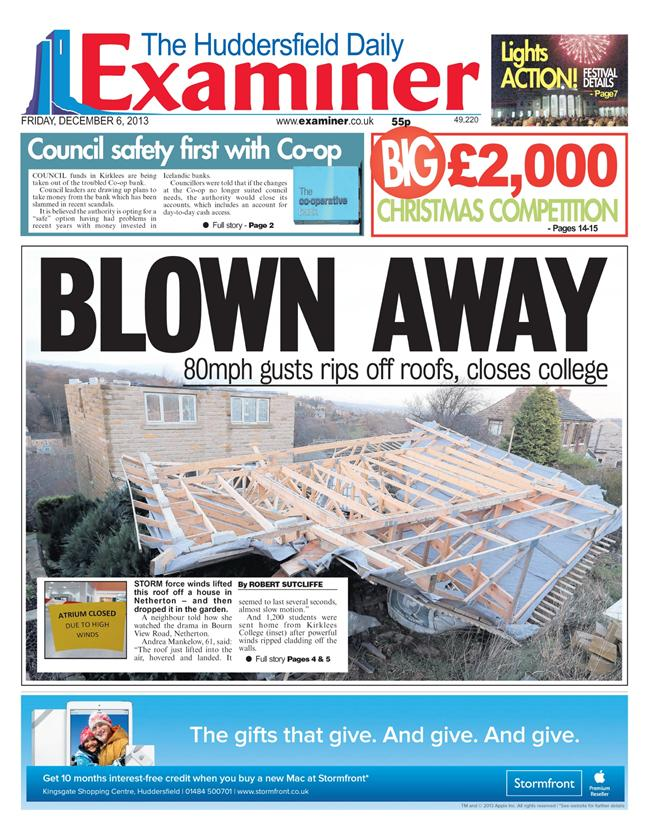 huddersfield examiner storms