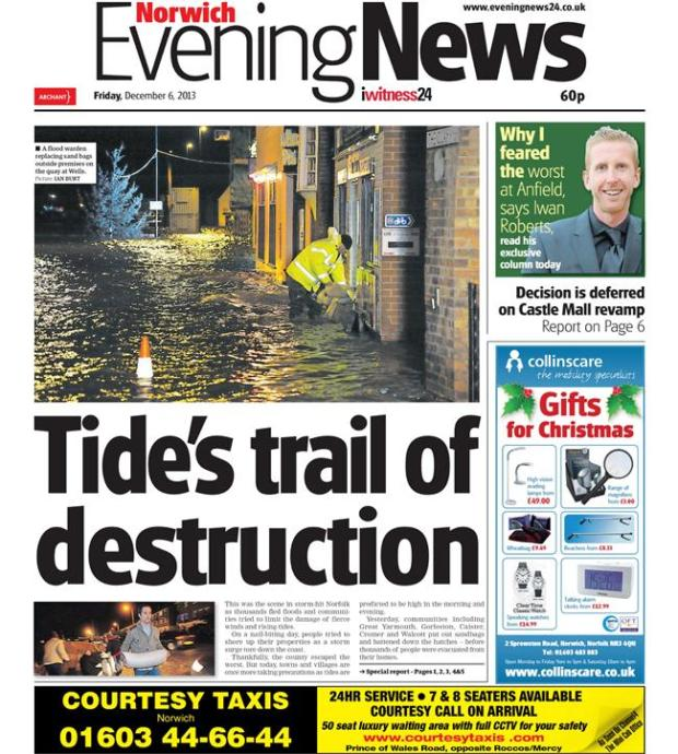 norwich evening news floods