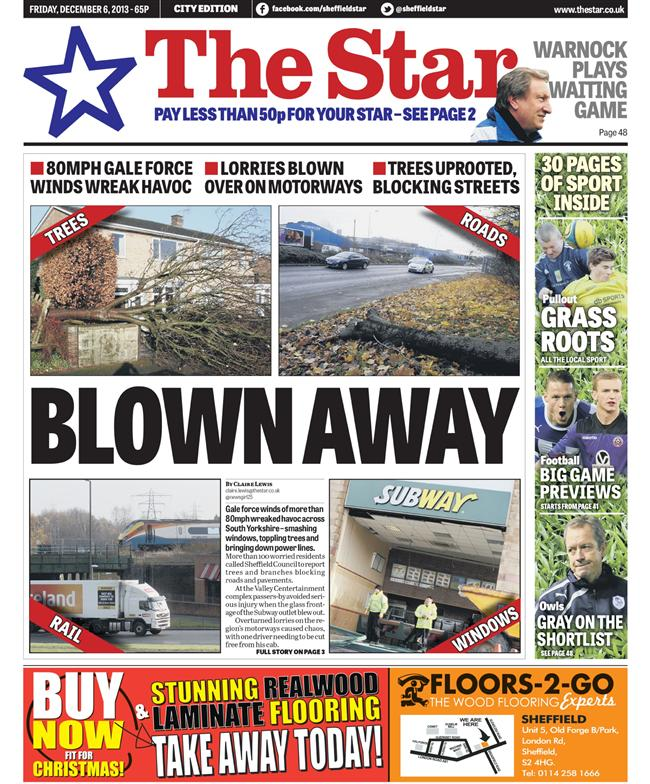 sheffield star storms