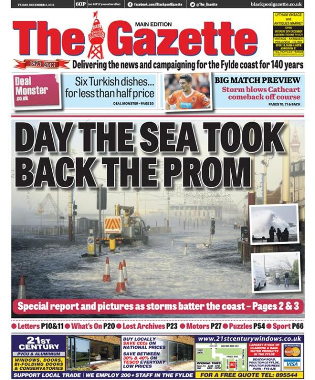 Storm blackpool gazette
