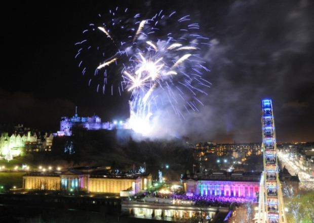 In Edinburgh, with the fireworks display so famous, the challenge is to  take something new. I like this one
