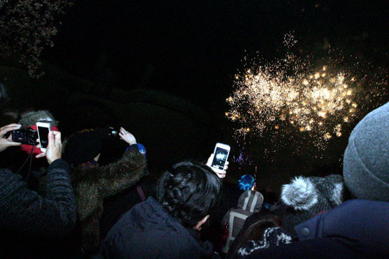 From the Nottingham Post coverage of fireworks at the city's castle - a great example of how every is catching an event on camera this days
