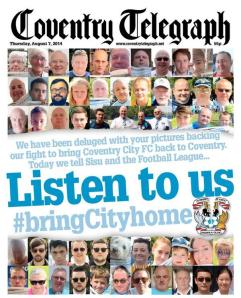 The Coventry Telegraph's brilliant protest front page