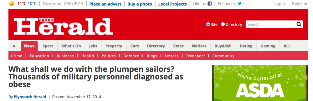 plymouth herald headline