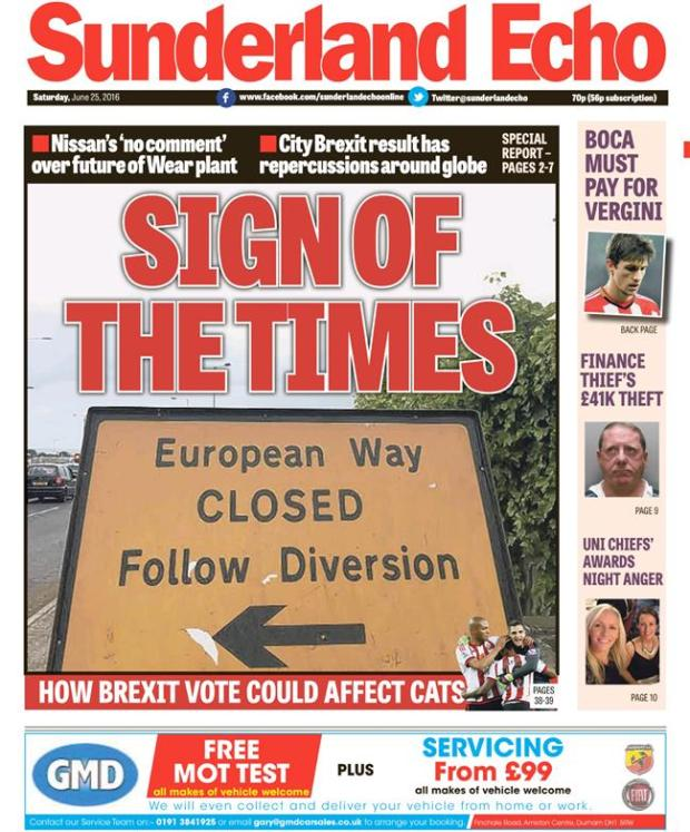 brexit sunderland